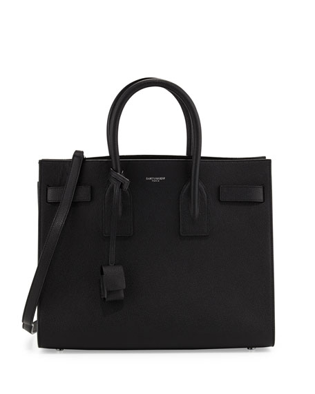 Saint Laurent Sac de Jour Small Satchel Bag, Black (Noir)