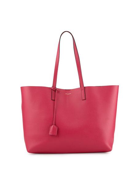Large Shopping Tote Bag, Fuchsia/Black