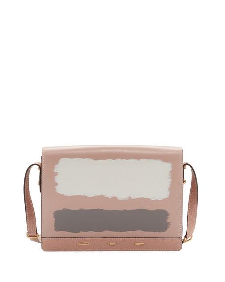 Pulce XL Leather Crossbody Bag, Light Pink