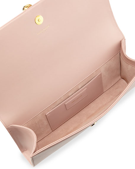Monogram Calfskin Clutch Bag, Pale Blush
