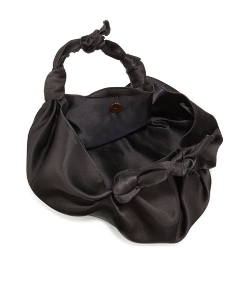 The Ascot Small Satin Hobo Bag