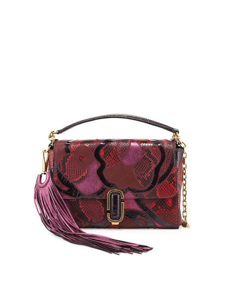 Marc Jacobs J Marc Snake Patchwork Shoulder Bag,