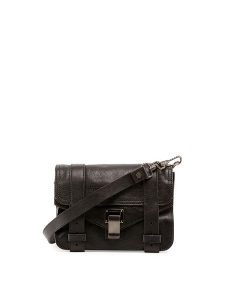 Proenza Schouler PS1 Mini Luxe Leather Crossbody Bag,