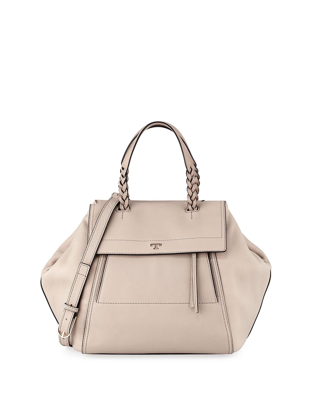 f66fad77a14e Tory Burch Half-Moon Medium Leather Satchel Bag