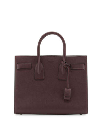 ysl leather tote