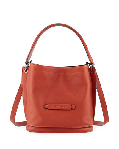 Longchamp 3D Leather Crossbody Bag, Brick