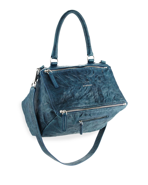 08f68e16fa9 Givenchy Pandora Medium Pepe Leather Shoulder Bag, Navy   Neiman Marcus