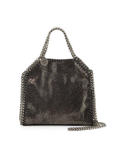 Falabella Tiny Shoulder Bag, Dark Gray