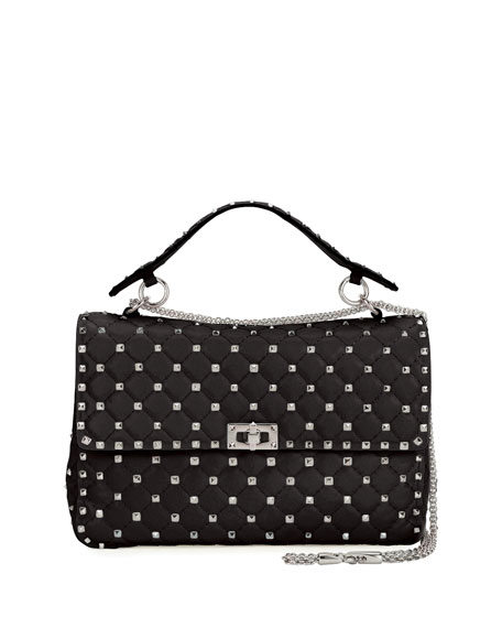 Rockstud Spike Medium Quilted Shoulder Bag