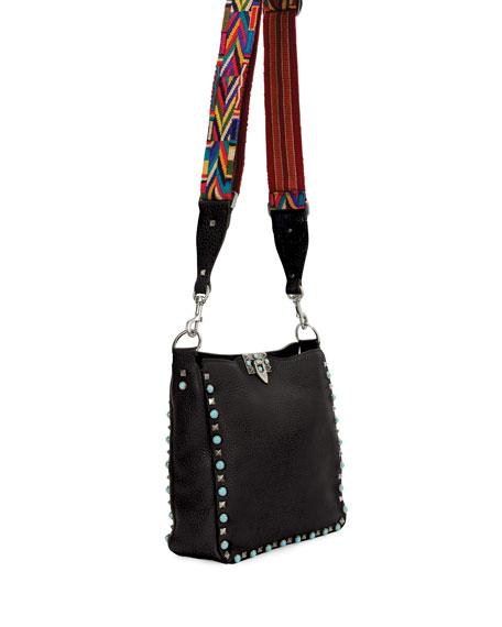 Rockstud Rolling Small Flip-Lock Hobo Bag
