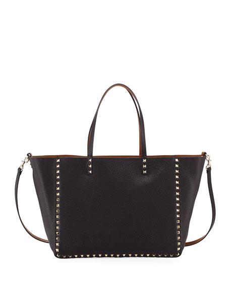 Valentino Garavani Medium Double Rockstud Reversible Tote Bag,