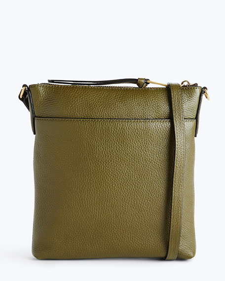 Recruit North-South Leather Crossbody Bag