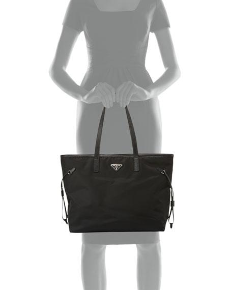 d1d918b80d5b6a Prada Vela Side-Cinch Shopping Tote Bag, Black (Nero) | Neiman Marcus