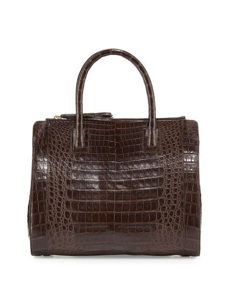 Crocodile Large Double-Zip Tote Bag