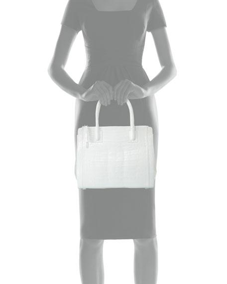 Crocodile Medium Double-Zip Tote Bag