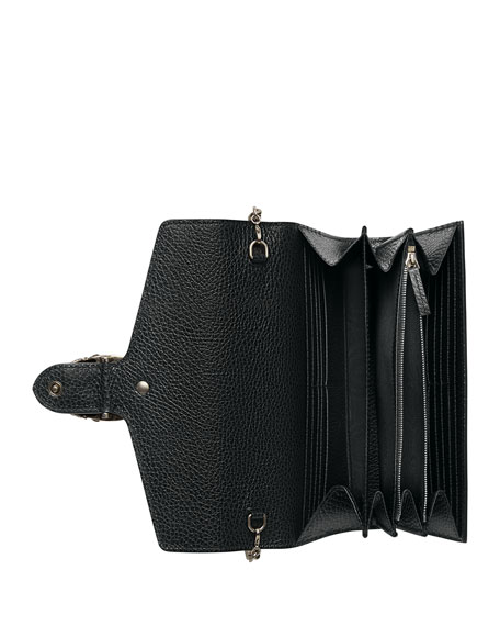 Image 2 of 3: Gucci Dionysus Leather Mini Chain Bag, Black