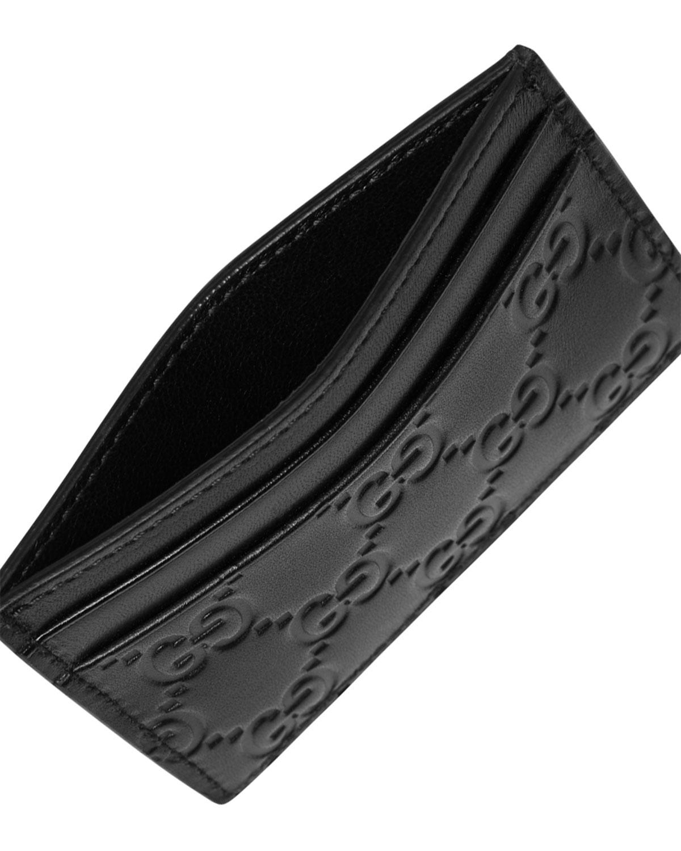 Gucci Gucci Signature Leather Card Case | Neiman Marcus