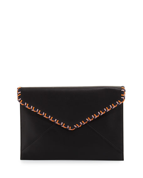 Chase Leo Leather Envelope Clutch Bag