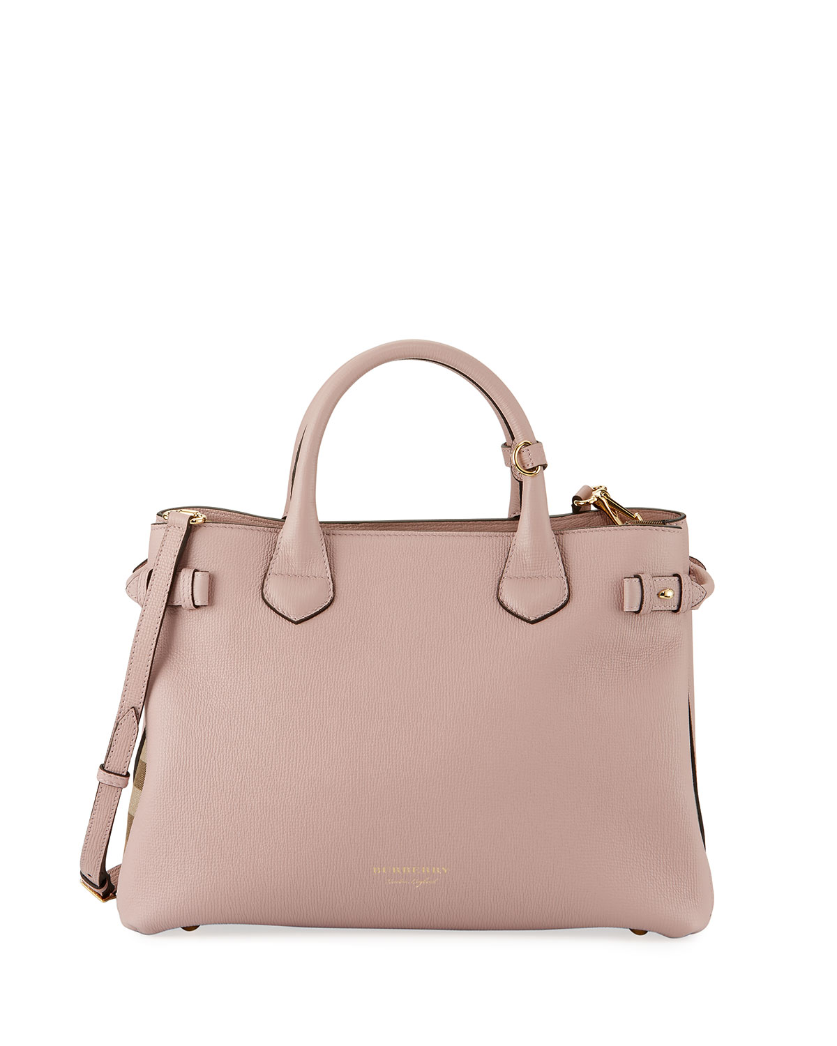 0980ce2e94 Burberry Banner House Check Derby Tote Bag, Pink | Neiman Marcus