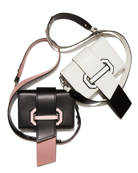 Plex Ribbon Geometric Small Shoulder Bag