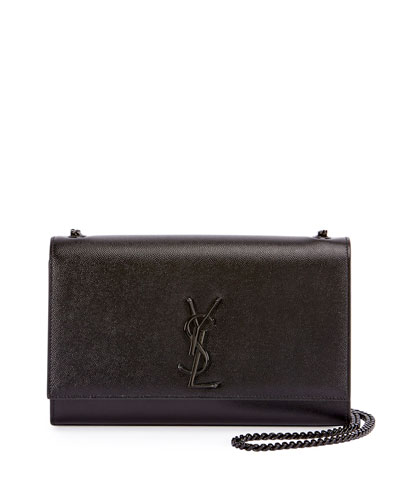 Monogram YSL Kate Medium Chain Bag  Black