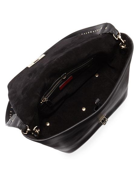 Demilune Small Rockstud Satchel Bag