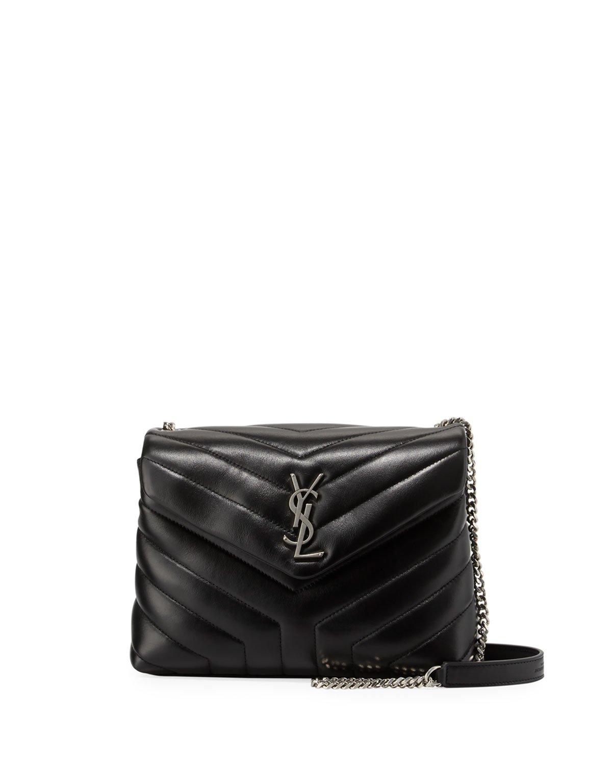 Saint Laurent Loulou Monogram Small Y-Quilted Leather Chain Bag ... 4806ef4bb9d98