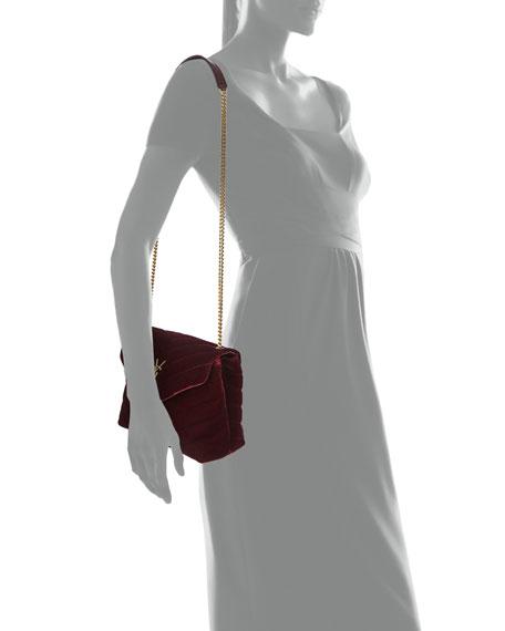 LouLou Monogram Small Velvet Shoulder Bag