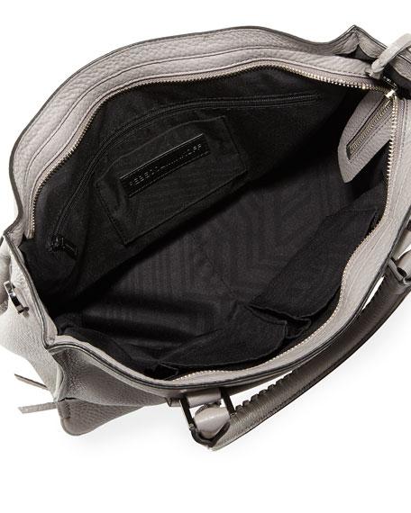 Regan Pebbled Satchel Bag