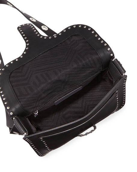 Midnighter Large Leather Messenger Bag