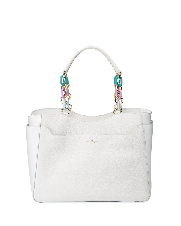 Salvatore Ferragamo Large Lianne Tote Bag   Neiman Marcus 8da8bb05c1