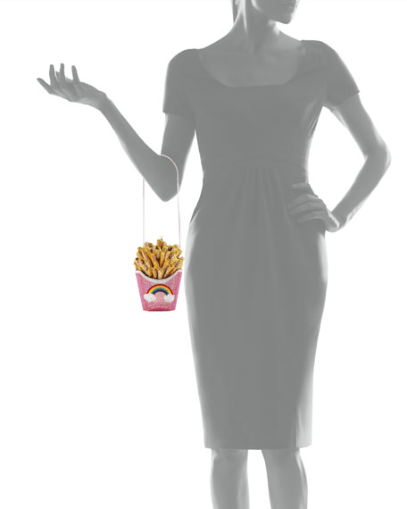 Image 5 of 5: Judith Leiber Couture French Fries Rainbow Clutch Bag