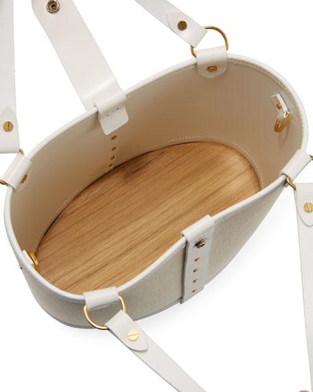Pail Denim & Wood Bucket Bag