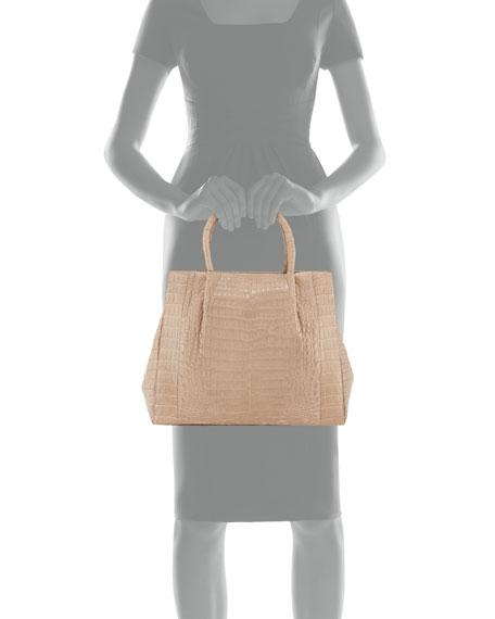 Medium Crocodile Carryall Tote Bag
