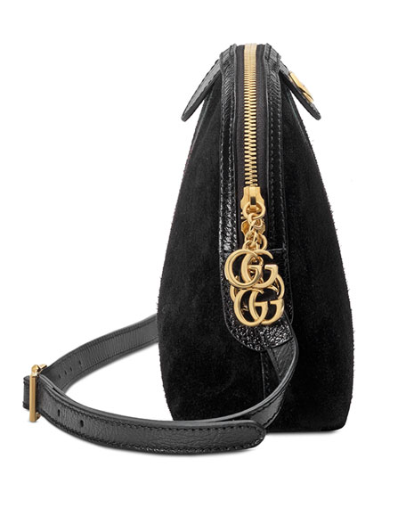 7b424000d Gucci Linea Dragoni Suede Small Chain Shoulder Bag | Neiman Marcus
