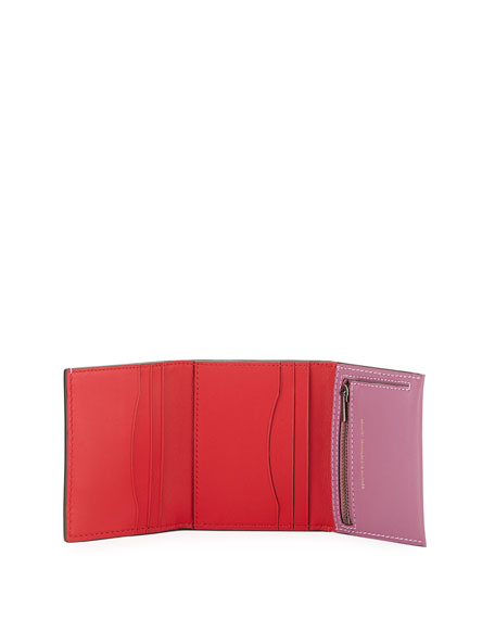 Smooth Trifold Snap Wallet
