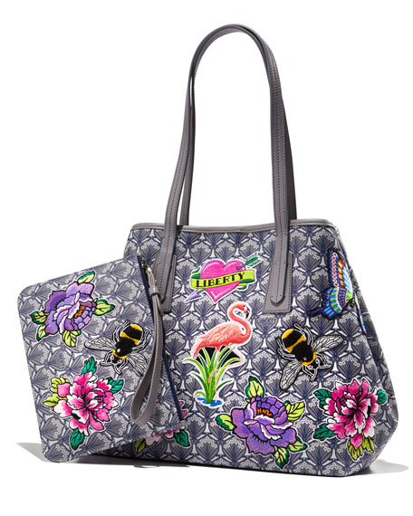 Liberty London Marlborough Iphis All Over Patches Tote Bag