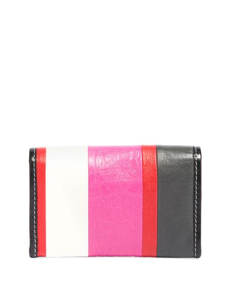 Bazar Striped Leather Chain Shoulder Bag