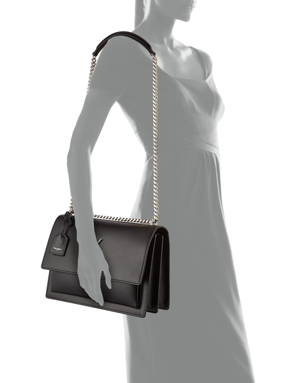 2bf8ecc000c Saint Laurent Sunset Large Monogram YSL Shoulder Bag   Neiman Marcus