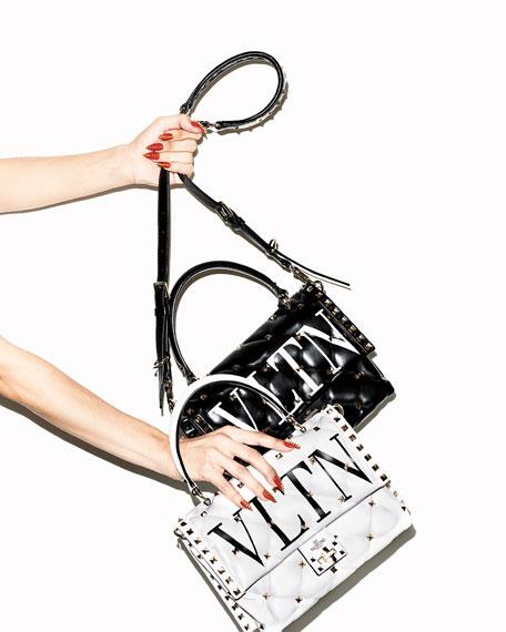 Valentino Garavani VLTN Spike Medium Top-Handle Shoulder Bag
