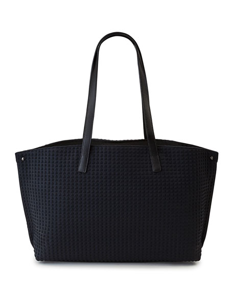 Akris Ai Small Fabric Shoulder Tote Bag