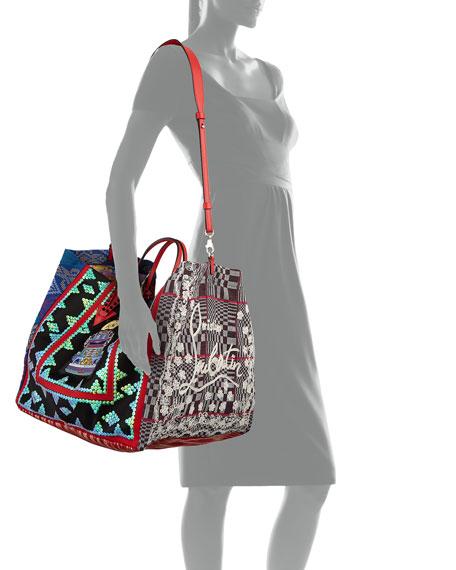 Christian Louboutin Manilacaba Multi-Pattern Tote Bag