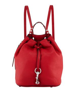 051267056f250 Rebecca Minkoff Blythe Leather Drawstring Backpack Bag