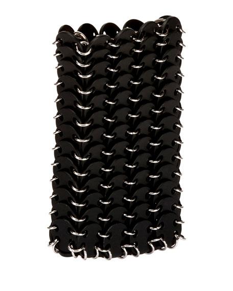 Paco Rabanne Iconic Small Sleek Calf Brass Link Chain Shoulder Bag