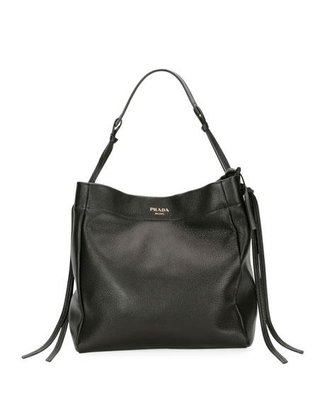 Prada Cervo Hobo Shoulder Bag