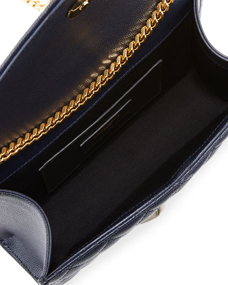 Saint Laurent Monogram YSL Envelope Small Chain Shoulder Bag - Golden Hardware