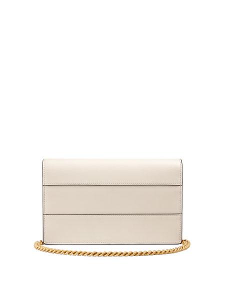 Queen Margaret Leather Bee Wallet On Chain Bag