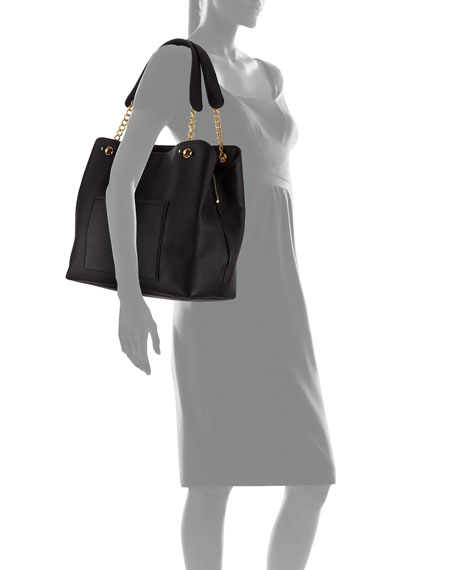 Image 3 of 3: Chelsea Slouchy Leather Shoulder Tote Bag