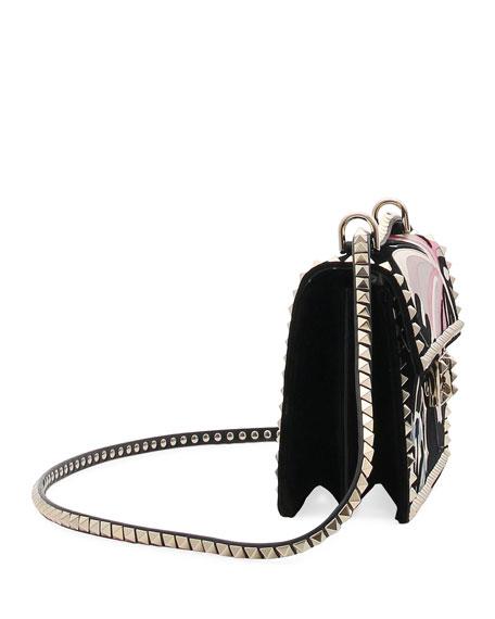 Rockstud No Limit Butterfly Velvet Shoulder Bag