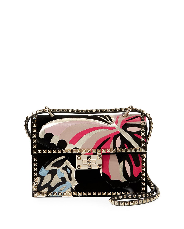 1e6e34c3fd3 Valentino Garavani Rockstud No Limit Butterfly Velvet Shoulder Bag ...